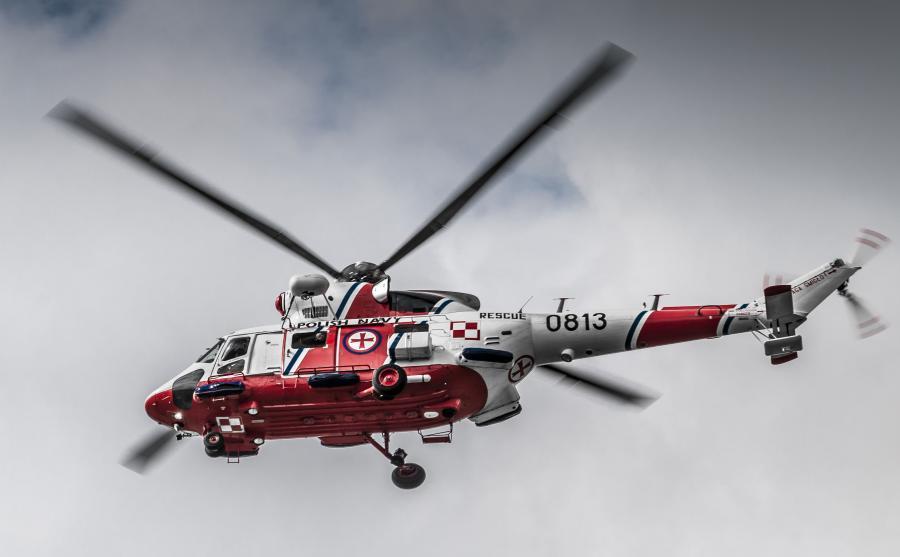 Helikopter ratowniczy polskiej marynarki wojennej