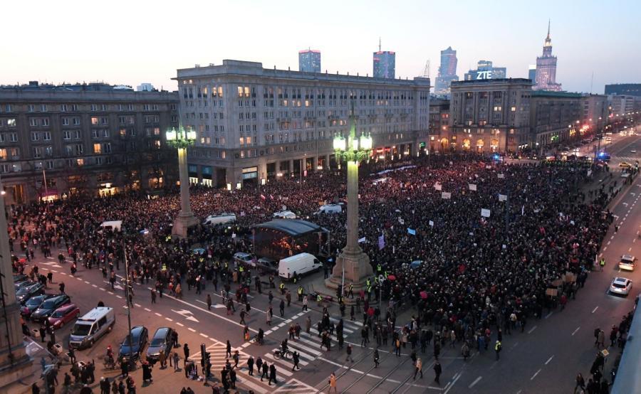 Międzynarodowy Strajk Kobiet w Dzień Kobiet w Warszawie