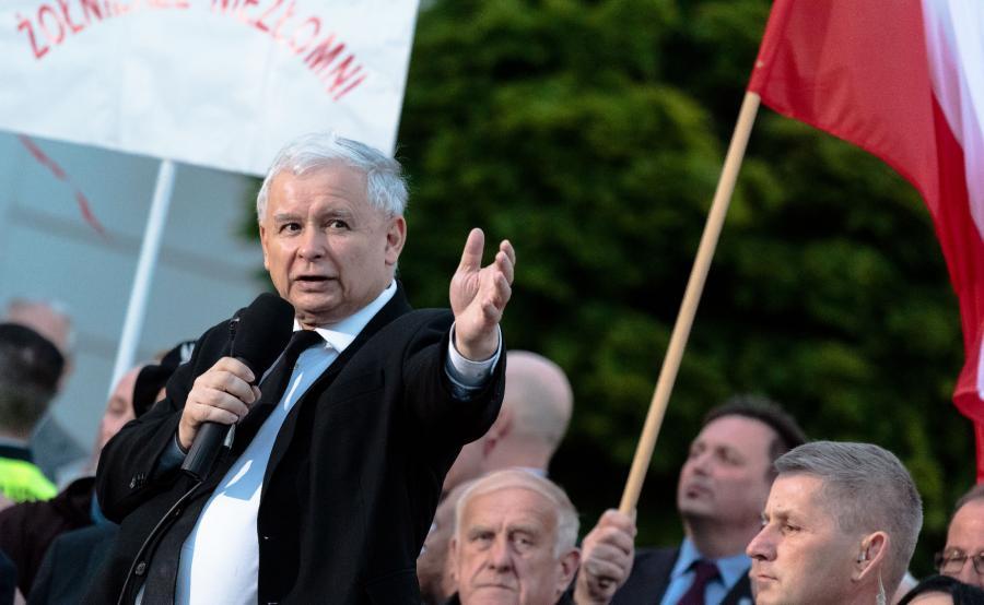 Jarosław Kaczyński na wiecu